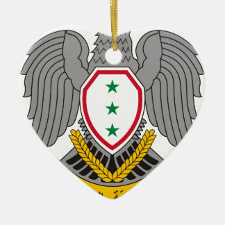 Coat_of_arms_of_Syria-1963 Ceramic Heart Ornament
