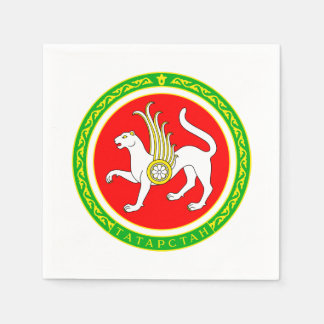 Coat of arms of Tatarstan Disposable Napkin