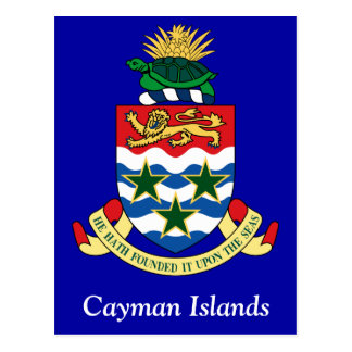 Coat of arms of the Cayman Islands Postcard