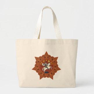 Coat_of_arms_of_the_Democratic_Republic_of_Georgia Large Tote Bag