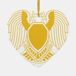 Coat_of_arms_of_the_Federation_of_Arab_Republics.p Ceramic Heart Ornament