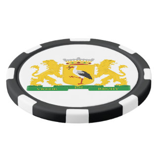 Coat of arms of The Hague, The Netherlands. Set Of Poker Chips