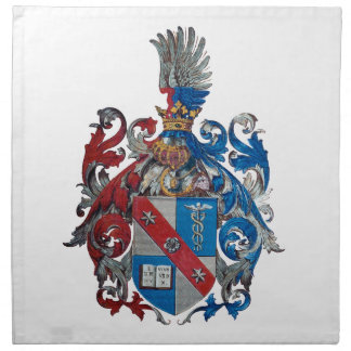 Coat of Arms of the Ludwig Von Mises Family Printed Napkins