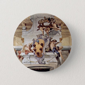 Coat Of Arms Of The Medici., By Ricci Sebastiano 2 Inch Round Button