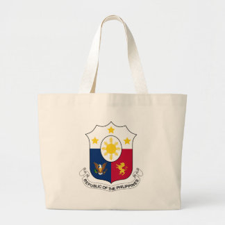 Coat_of_arms_of_the_Philippines_(1946–1978) Large Tote Bag