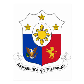 Coat of Arms of the Philippines Postcard