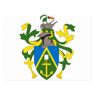 Coat_of_arms_of_the_Pitcairn_Islands Postcard