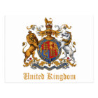 COAT OF ARMS OF THE UNITED KINGDOM POSTCARD