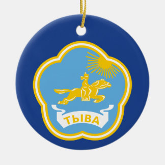 Coat of arms of Tuva Ceramic Ornament