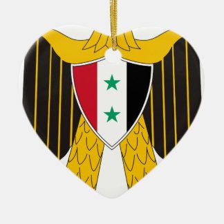 Coat_of_arms_of_United_Arab_Republic_(Syria Ceramic Heart Ornament