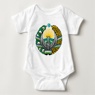 Coat_of_arms_of_Uzbekistan_cyrillic Baby Bodysuit