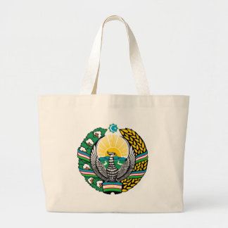 Coat_of_arms_of_Uzbekistan_cyrillic Large Tote Bag