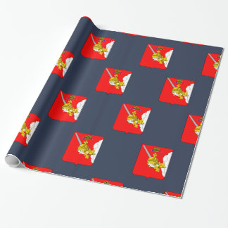 Coat of arms of Vologda oblast Wrapping Paper