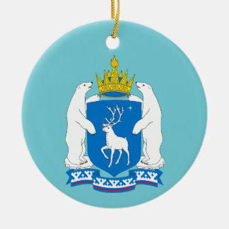 Coat of arms of  Yamal-Nenetsia Ceramic Ornament