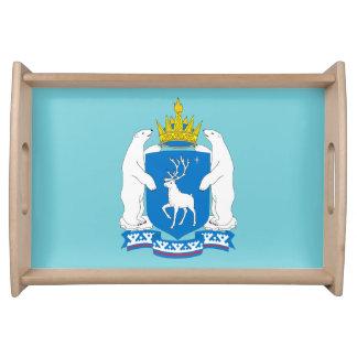 Coat of arms of  Yamal-Nenetsia Serving Tray