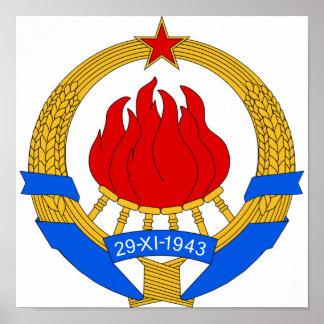Coat of Arms of Yugoslavia (1945-1992) Poster