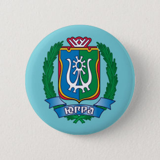 Coat of arms of  Yugra 2 Inch Round Button