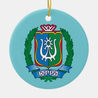 Coat of arms of  Yugra Ceramic Ornament