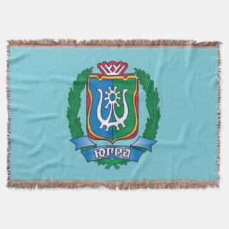 Coat of arms of  Yugra Throw Blanket