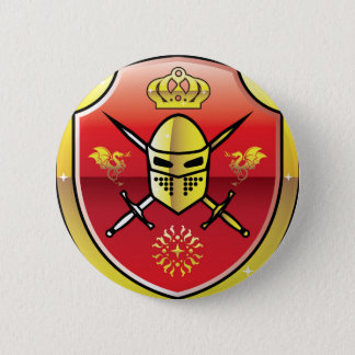 Coat of Arms Royal Knight logo 2 Inch Round Button
