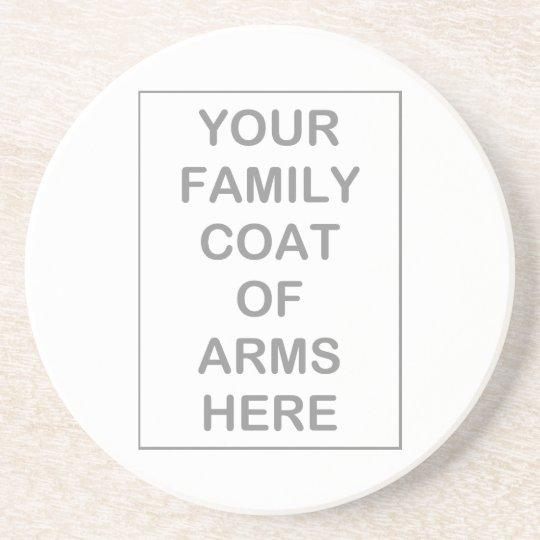 Coat of Arms Sandstone Coaster