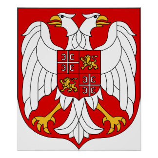 Coat of arms Serbia & Montenegro Official Symbol Poster