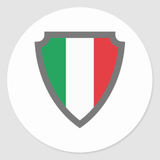 Coat of arms sign hatchment Italy Italy Italia Classic Round Sticker