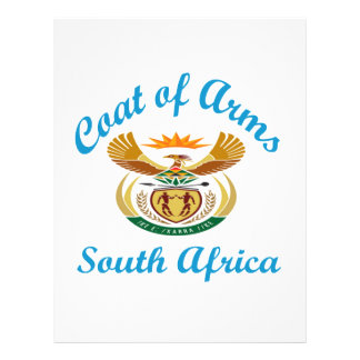 Coat Of Arms South Africa Personalized Letterhead