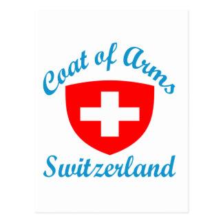 Coat Of Arms Switzerland Postcard