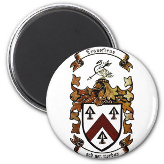 Coat of arms - Transfixus sed non morbus (color) Magnet