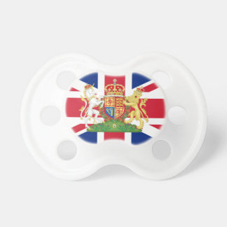 Coat of Arms Union Jack Baby Pacifier