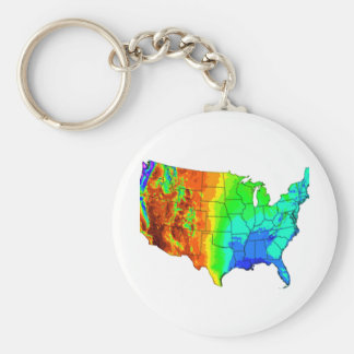 Coat of Many Colors Basic Round Button Keychain