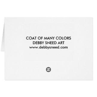 Coat of Many Colors Card
