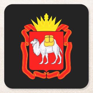 Coat of of Chelyabinsk Square Paper Coaster