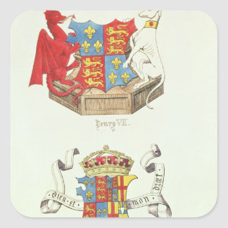 Coats of Arms of Henry VII  and Elizabeth of York Square Sticker