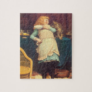 Coaxing Better Than Teasing Charles Burton Barber Jigsaw Puzzle