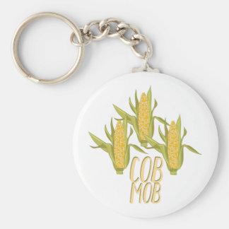 Cob Mob Basic Round Button Keychain