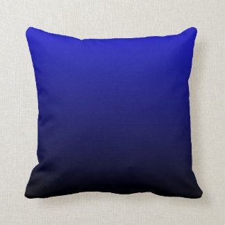 Cobalt Blue and Black Ombre Throw Pillow