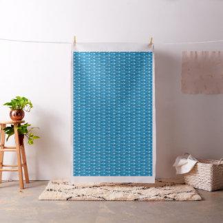 Cobalt Blue Arrows Pattern Fabric