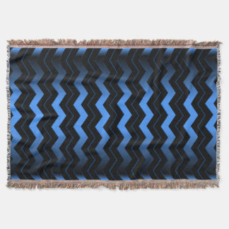 Cobalt Blue Chevron Throw Blanket