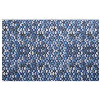 Cobalt Blue Fish Scales Metallic Look Pattern Fabric