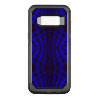 Cobalt Blue Geometric 3-D Checkerboard Pattern OtterBox Commuter Samsung Galaxy S8 Case