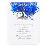Cobalt Blue Heart Leaf Tree Wedding
