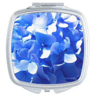 Cobalt Blue Hydrangea Makeup Mirror