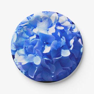 Cobalt Blue Hydrangea Paper Plate