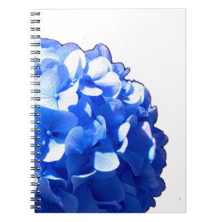 Cobalt Blue Hydrangea Spiral Notebook
