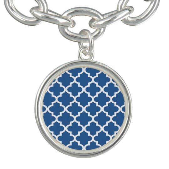 Cobalt Blue Moroccan Tile Trellis Bracelets