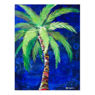 Cobalt Blue Palm II Postcard