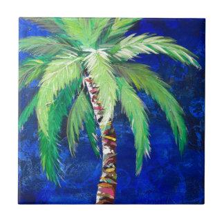 Cobalt Blue Palm II Tiles