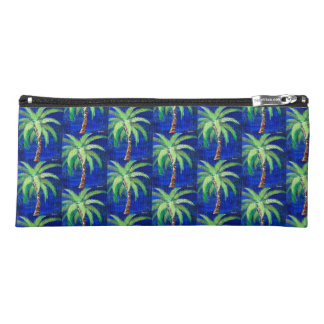 Cobalt Blue Palm Tree Pencil Pouch Pencil Case